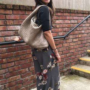 Authentic Rare Sparkle Nappa Leather Hobo Bag